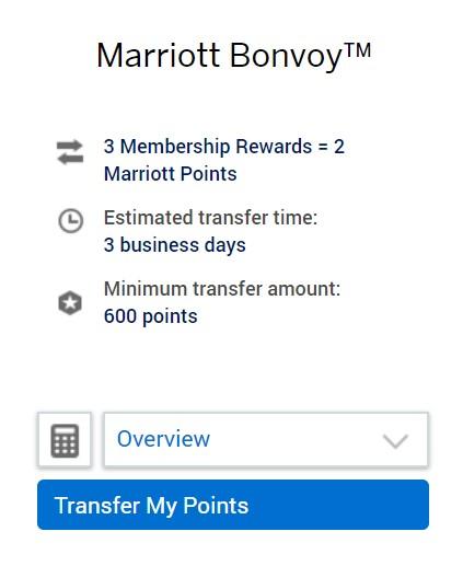 Transfer from Amex to Marriott Bonvoy