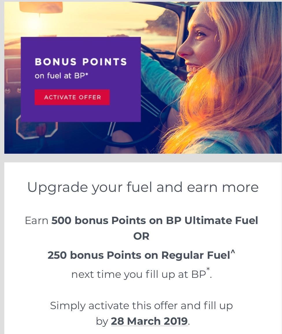 Bonus Velocity Points from BP