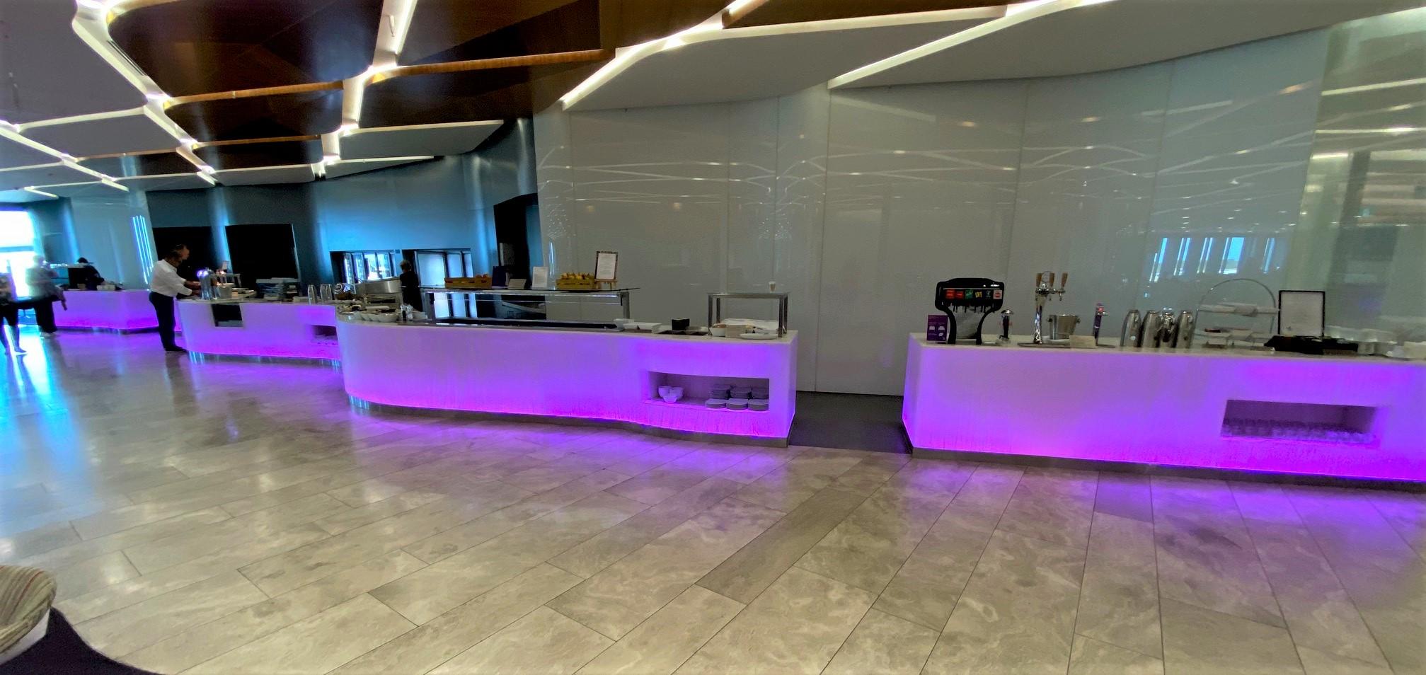 Buffet Stations, Virgin Australia Lounge - Perth Airport