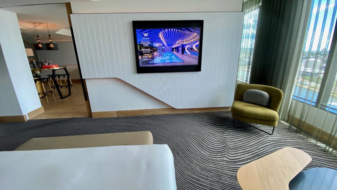 Bedroom TV, Fantastic Suite - W Brisbane