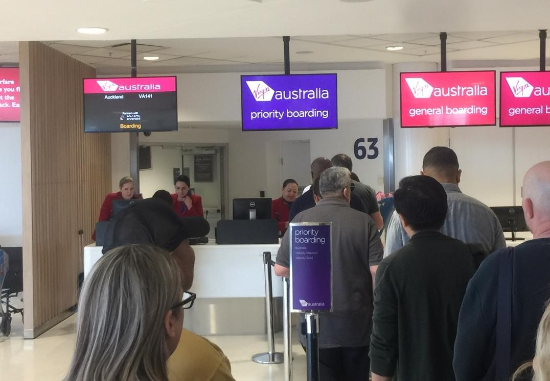 Virgin Australia Boarding queue