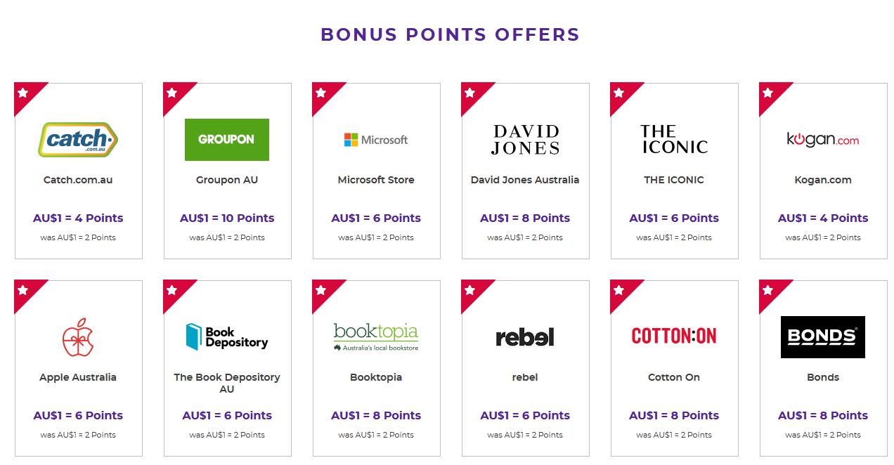 Bonus Retailers on Velocity eStore