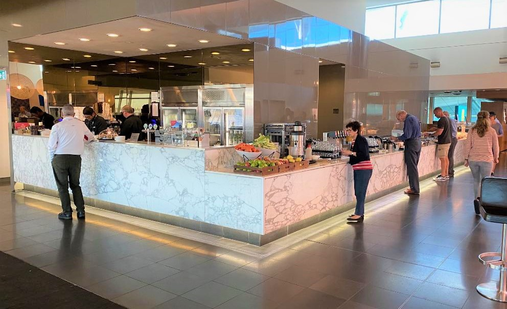 Buffet Station, Qantas Domestic Business Lounge - Sydney Airport