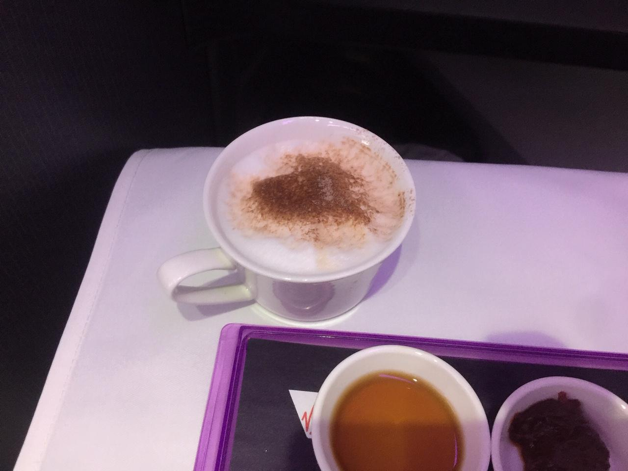 Virgin Australia Business Class Cappuccino