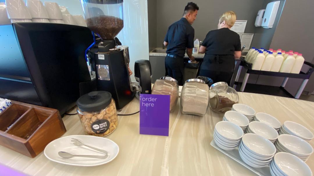 Coffee Station, Virgin Australia Lounge - Perth Airport