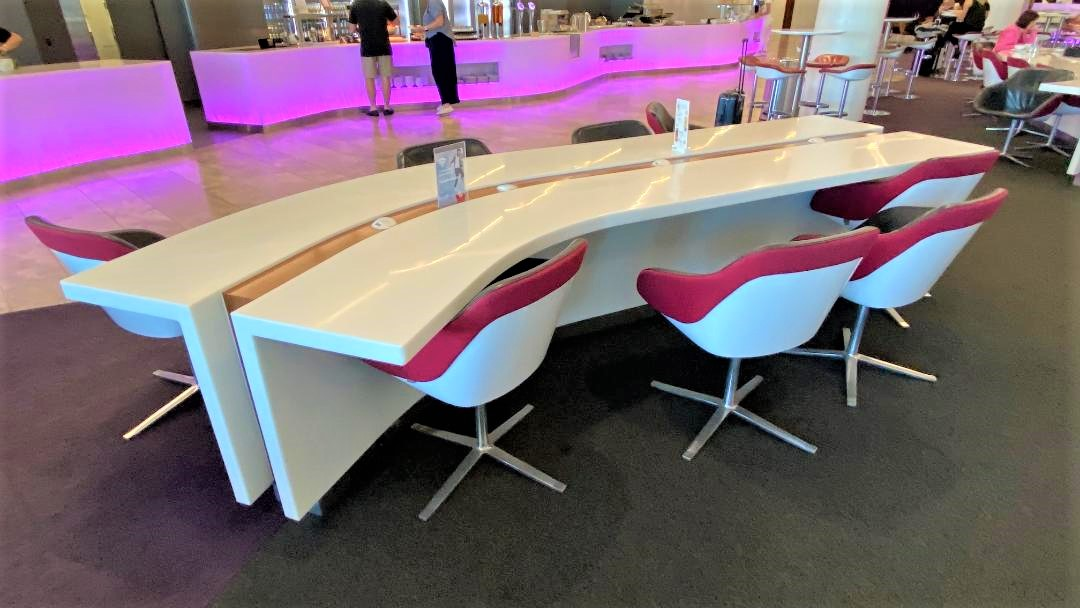 Communal Tables with Power and USB Outlet