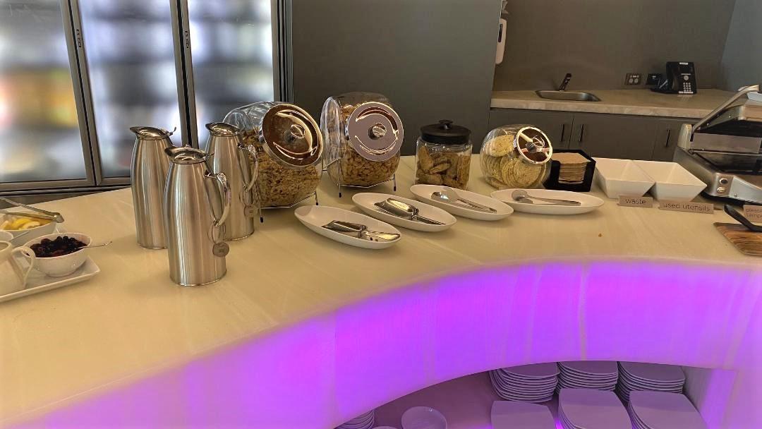 Breakfast Cereal, Virgin Australia Lounge - Perth Airport