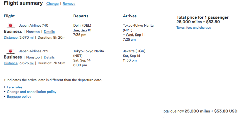 JAL Intra Asia flight with a free stopover using Alaska Miles