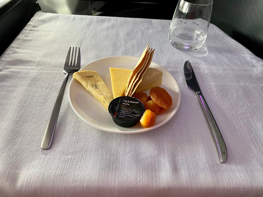 Virgin Australia A-330 Business Class Cheese Platter