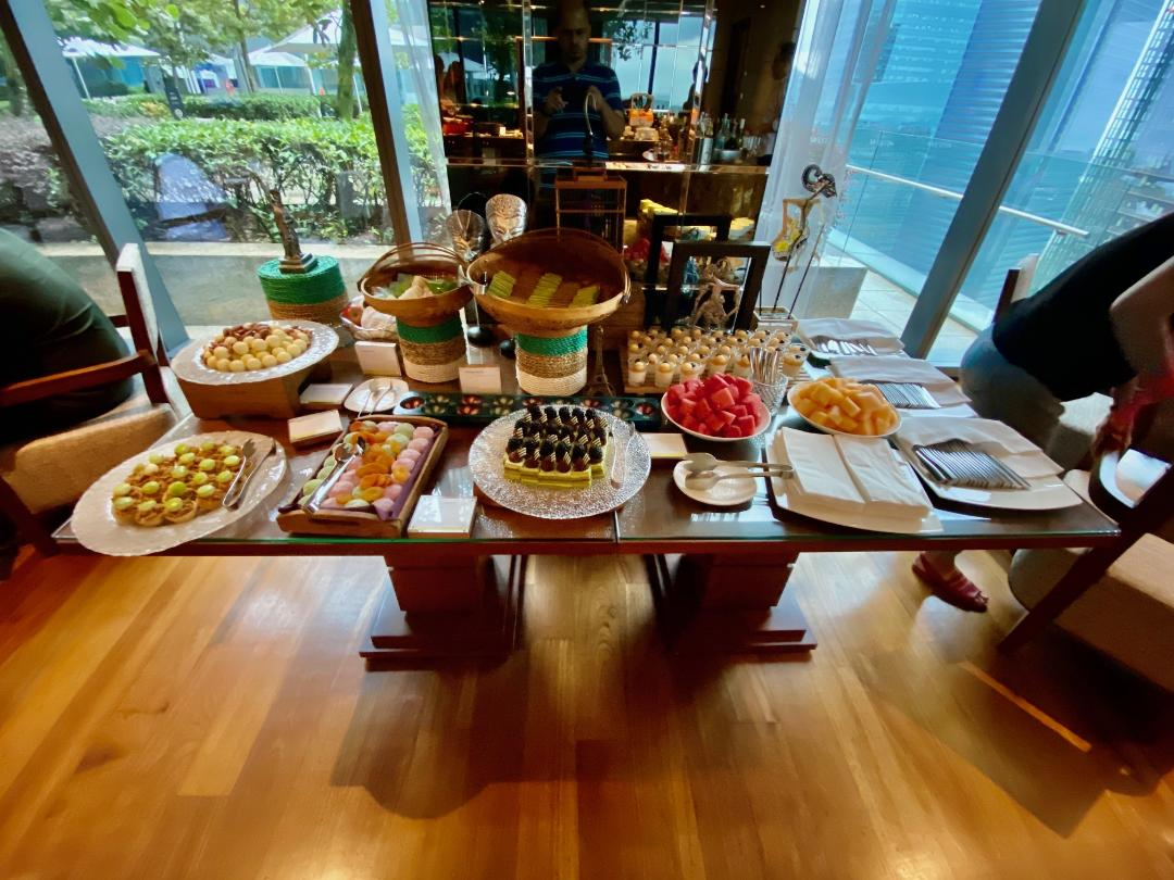 Desserts at the Executive Lounge, The Westin Singapore