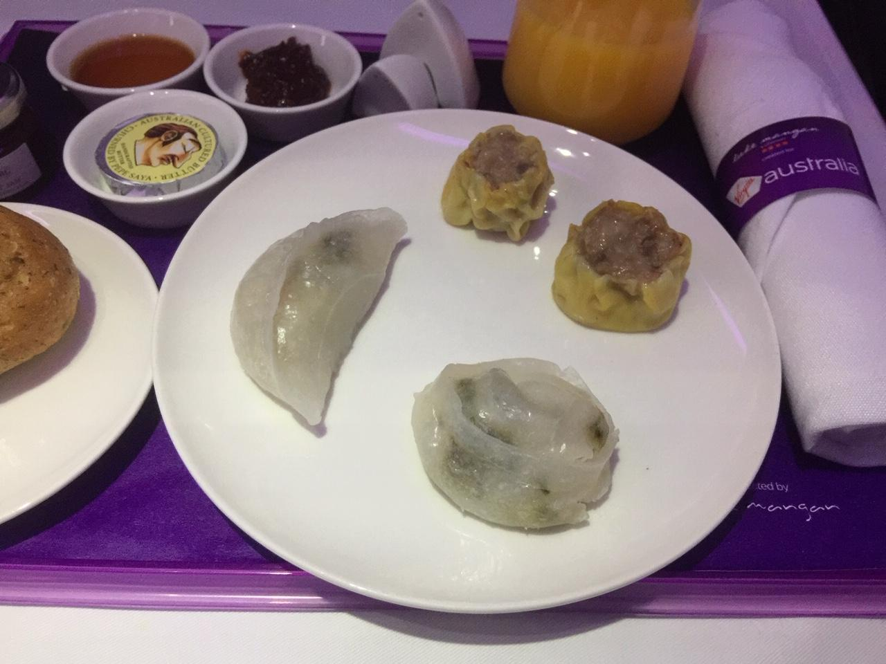 Virgin Australia Business Class Dim-sums