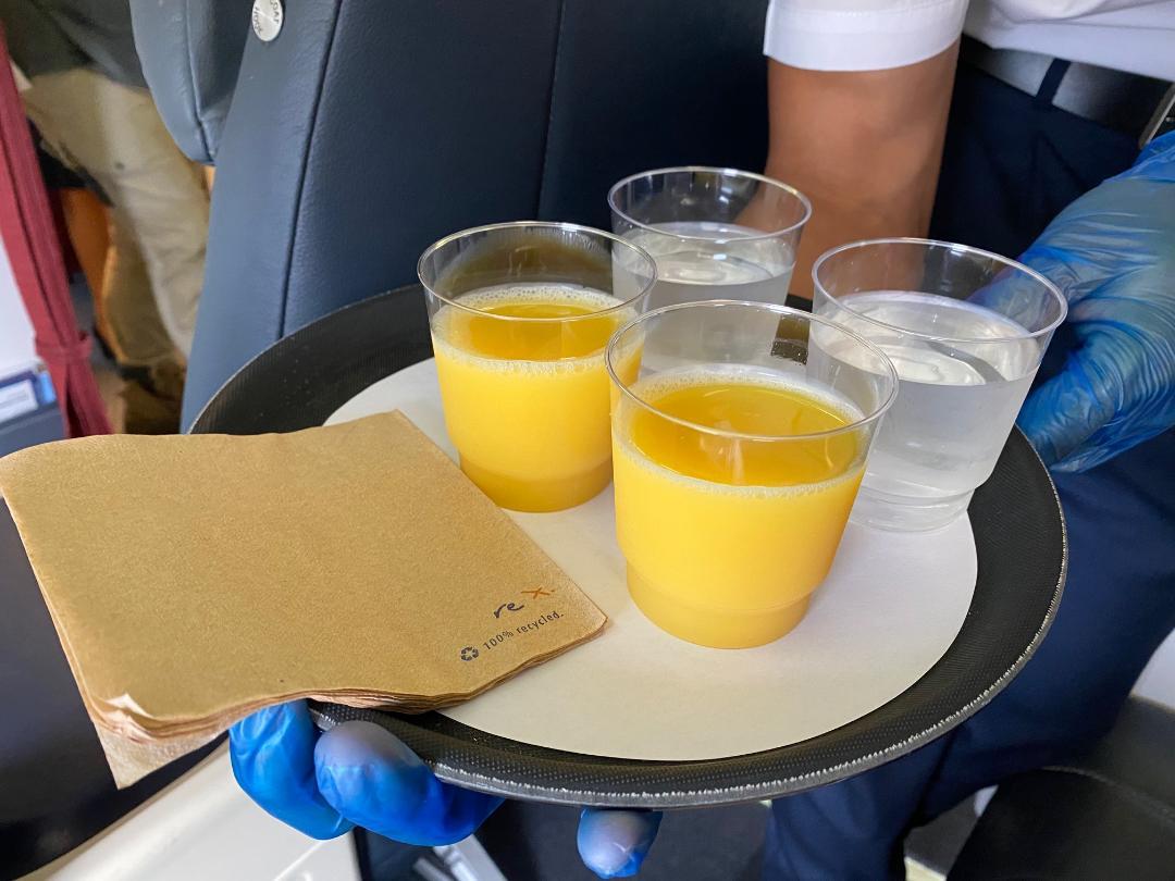 Rex Business Class Pre-departure offerings