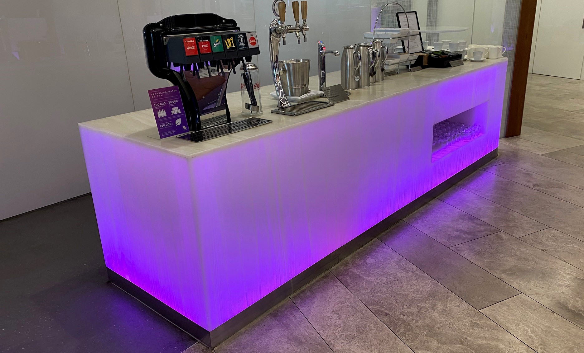 Hot and Cold Beverages, Virgin Australia Lounge - Perth Airport