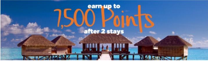 Earn 7,500 points after 2 stays