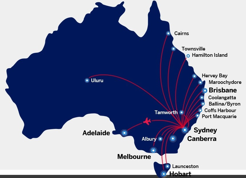Amex Velocity Platinum complimentary flight from Sydney