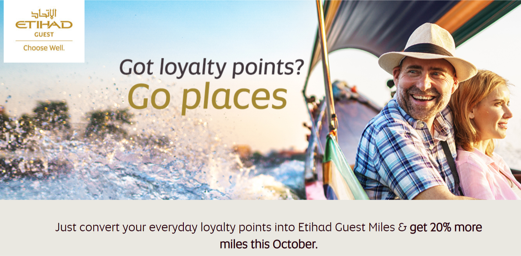 Etihad offering 20% transfer bonus from Hotel and Retain partners