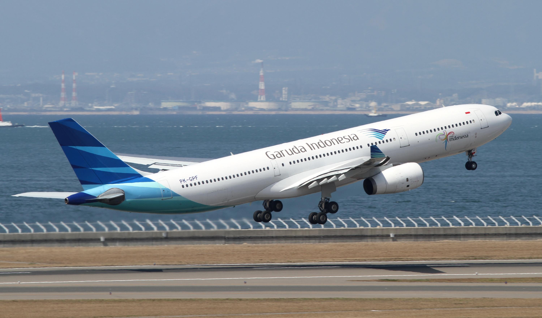 Garuda Indonesia taking off