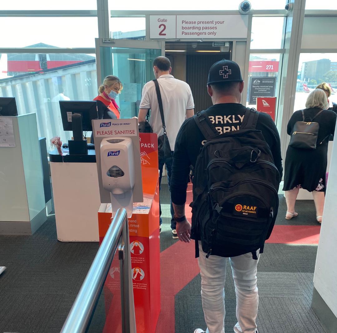 Hand Sanitising Station, Sydney Airport (T3)
