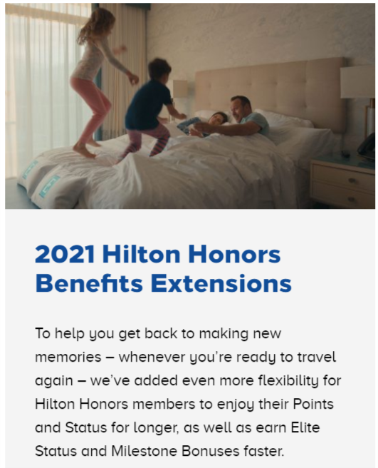 Hilton Honors Changes for 2021