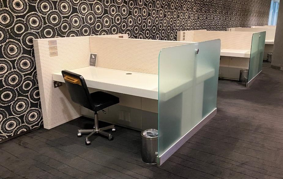 Individual work pods, Qantas Business Domestic Lounge - Sydney Airport