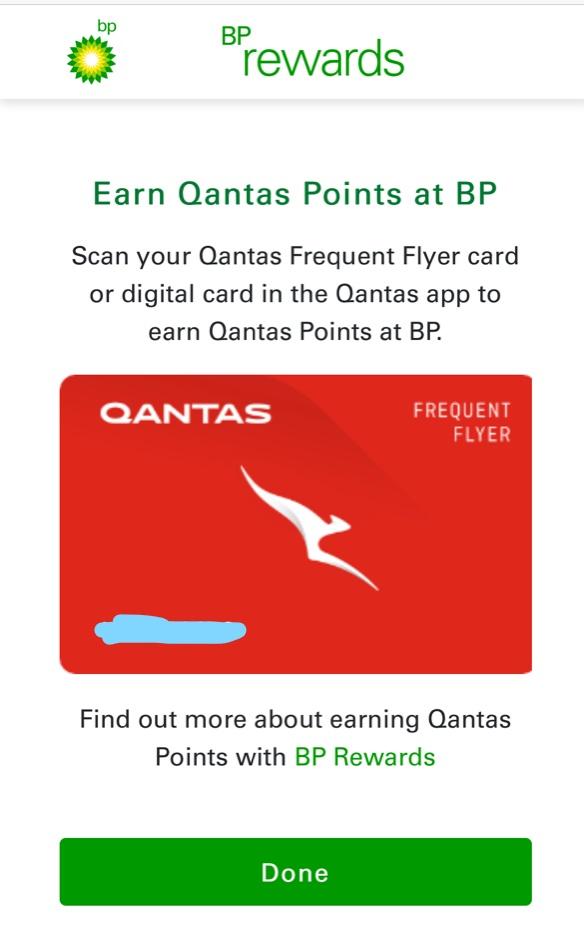 Earn Qantas points with BP Rewards