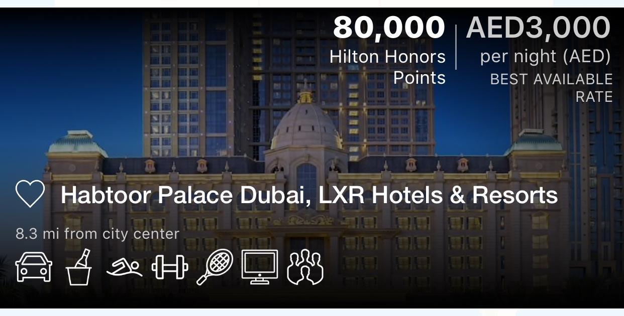 LXR Hotels, Dubai
