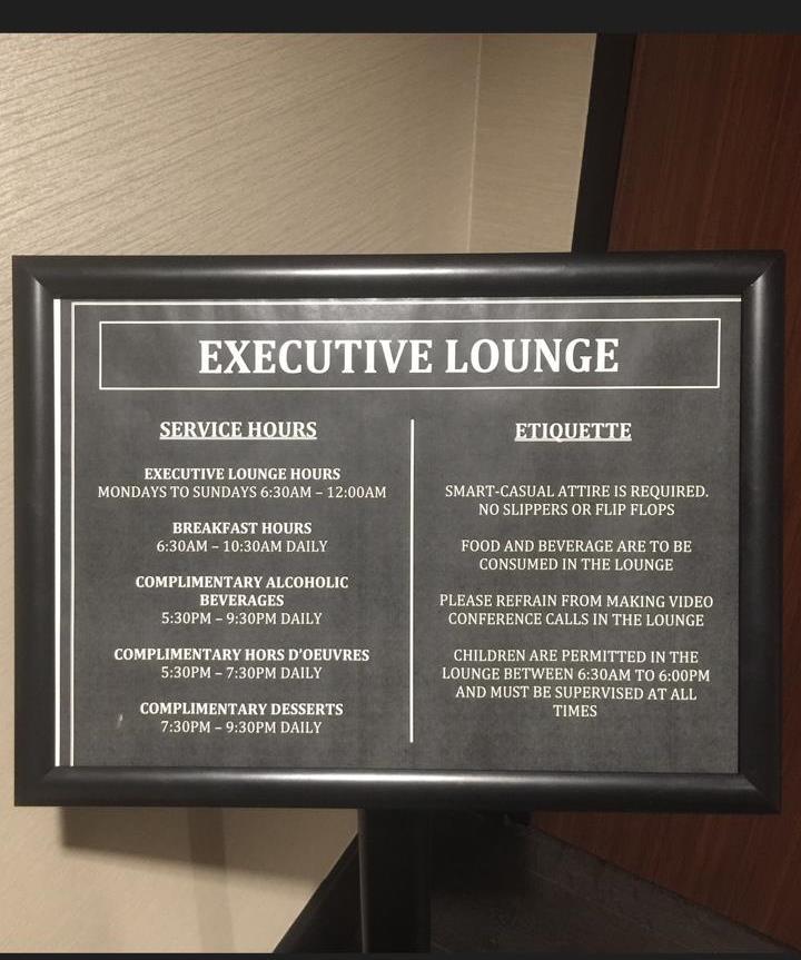 Executive Lounge Hours