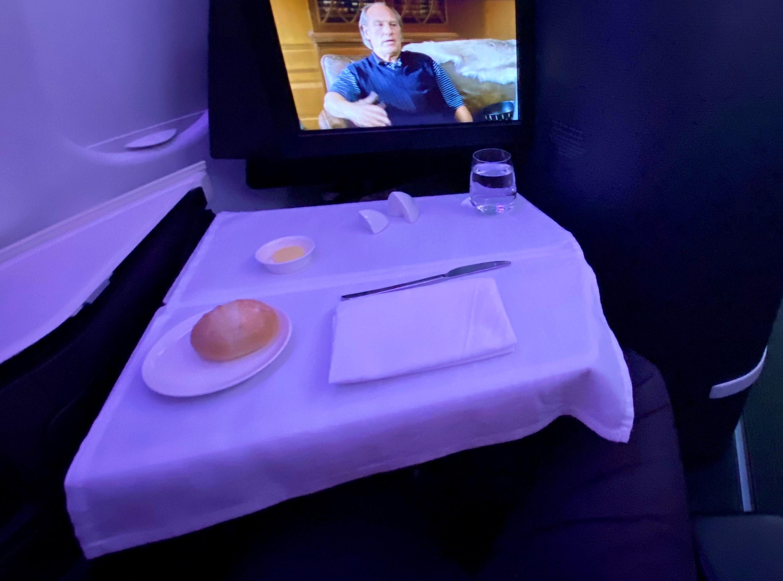 Virgin Australia A-330 Business Class Lunch