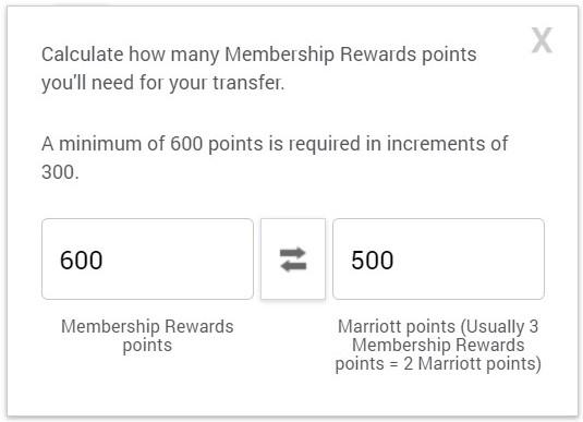 Amex to Marriott Transfer
