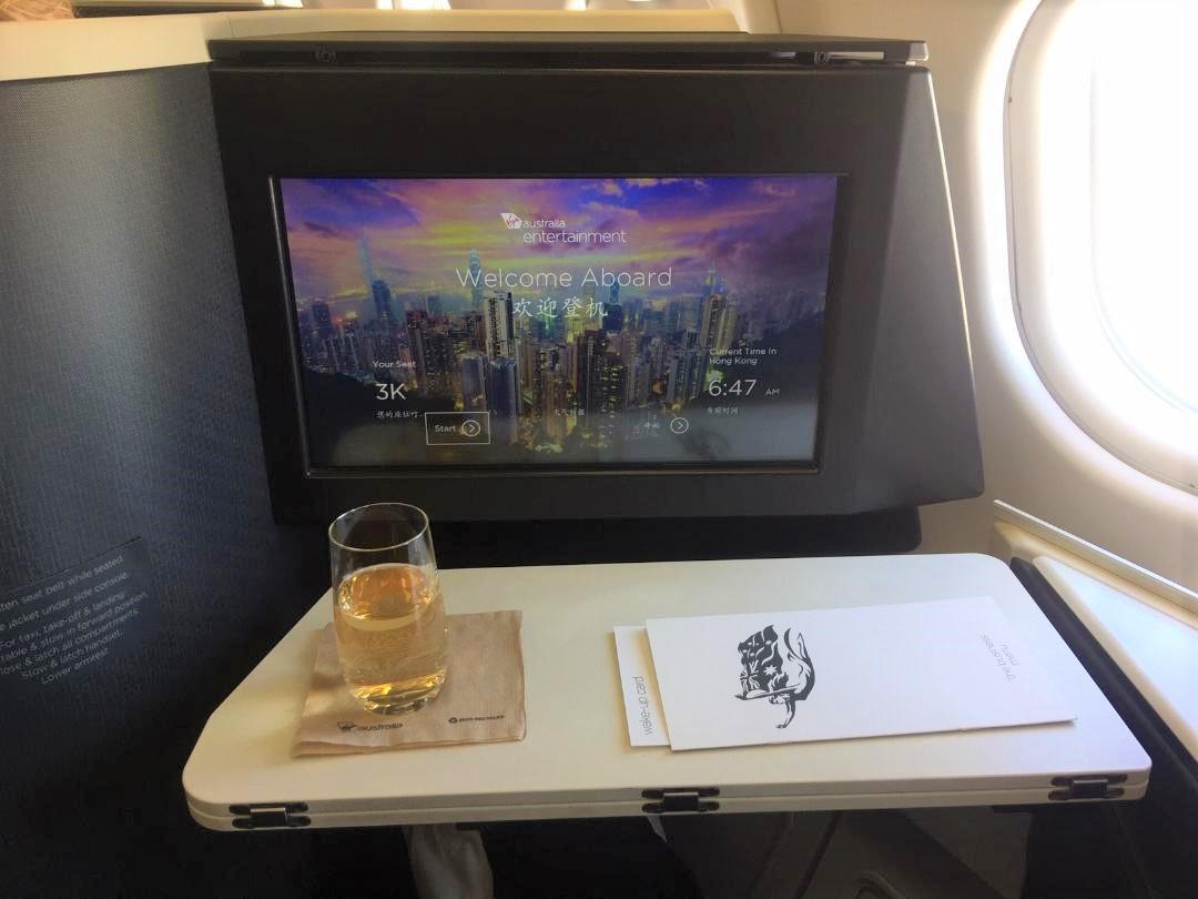 Virgin Australia Pre-departure Champagne