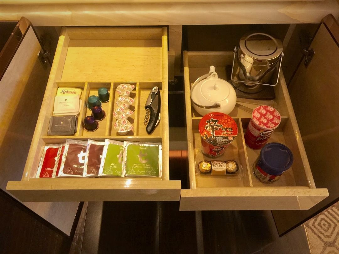 JW Marriott Macau, Executive Suite Snacks & Condiments