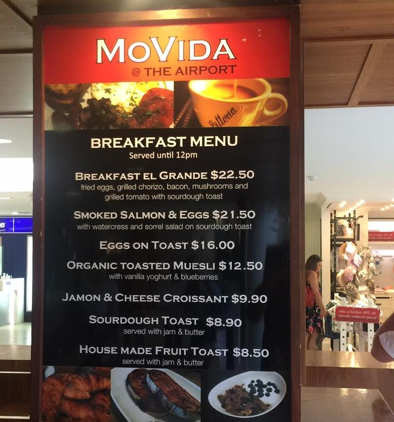 Movida, Sydney Airport
