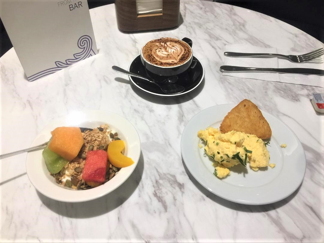 My Breakfast at American Express Lounge, Sydney T1