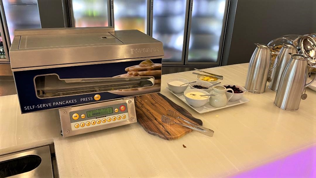 Pancake Maker, Virgin Australia Lounge - Perth Airport