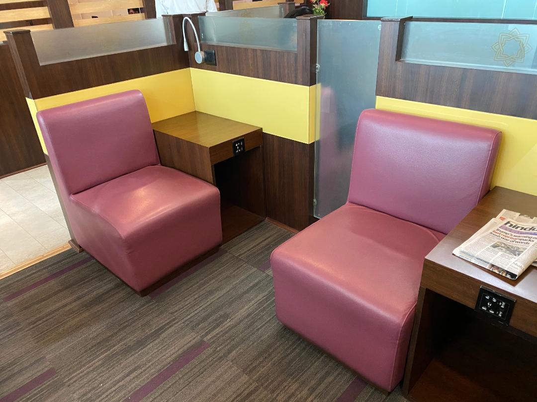 Pod Seating, Air Vistara Lounge Delhi Airport