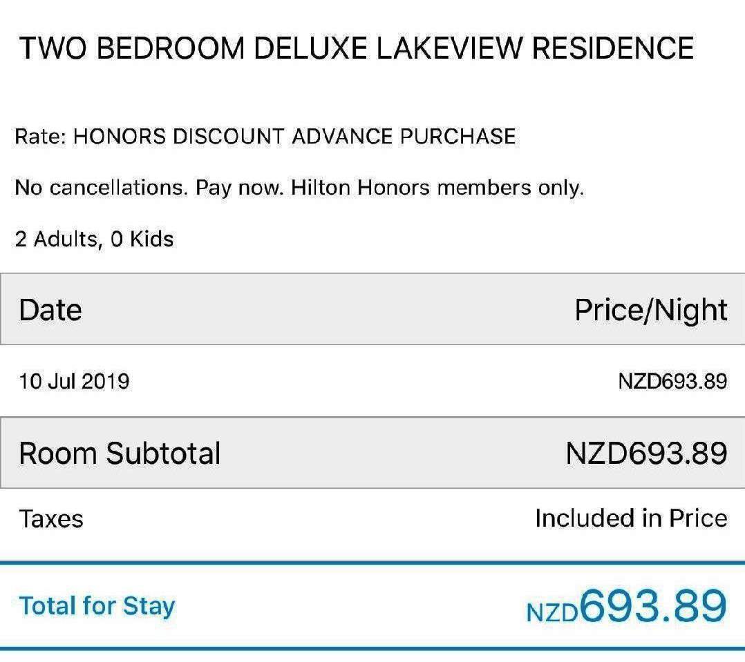 Hilton Queenstown Price