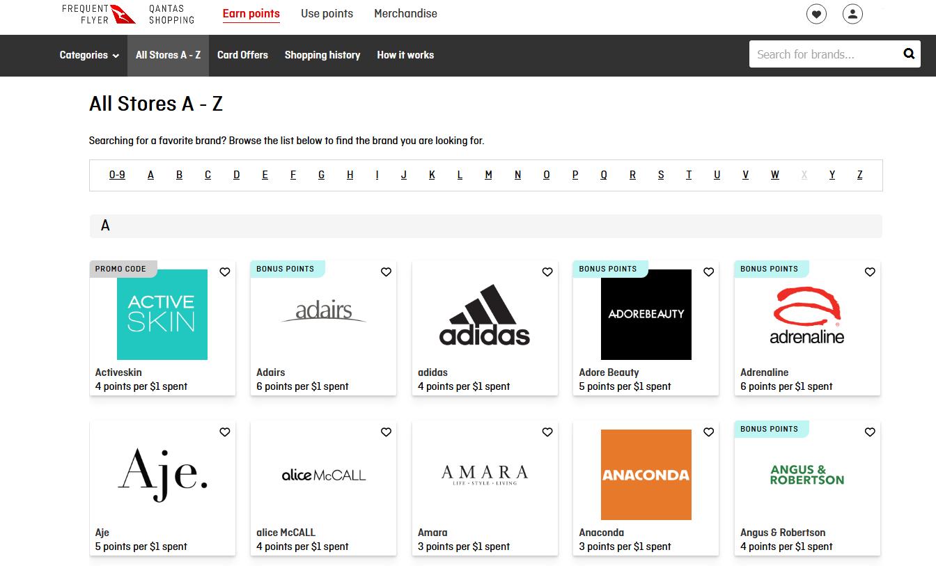 Qantas Shopping Portal