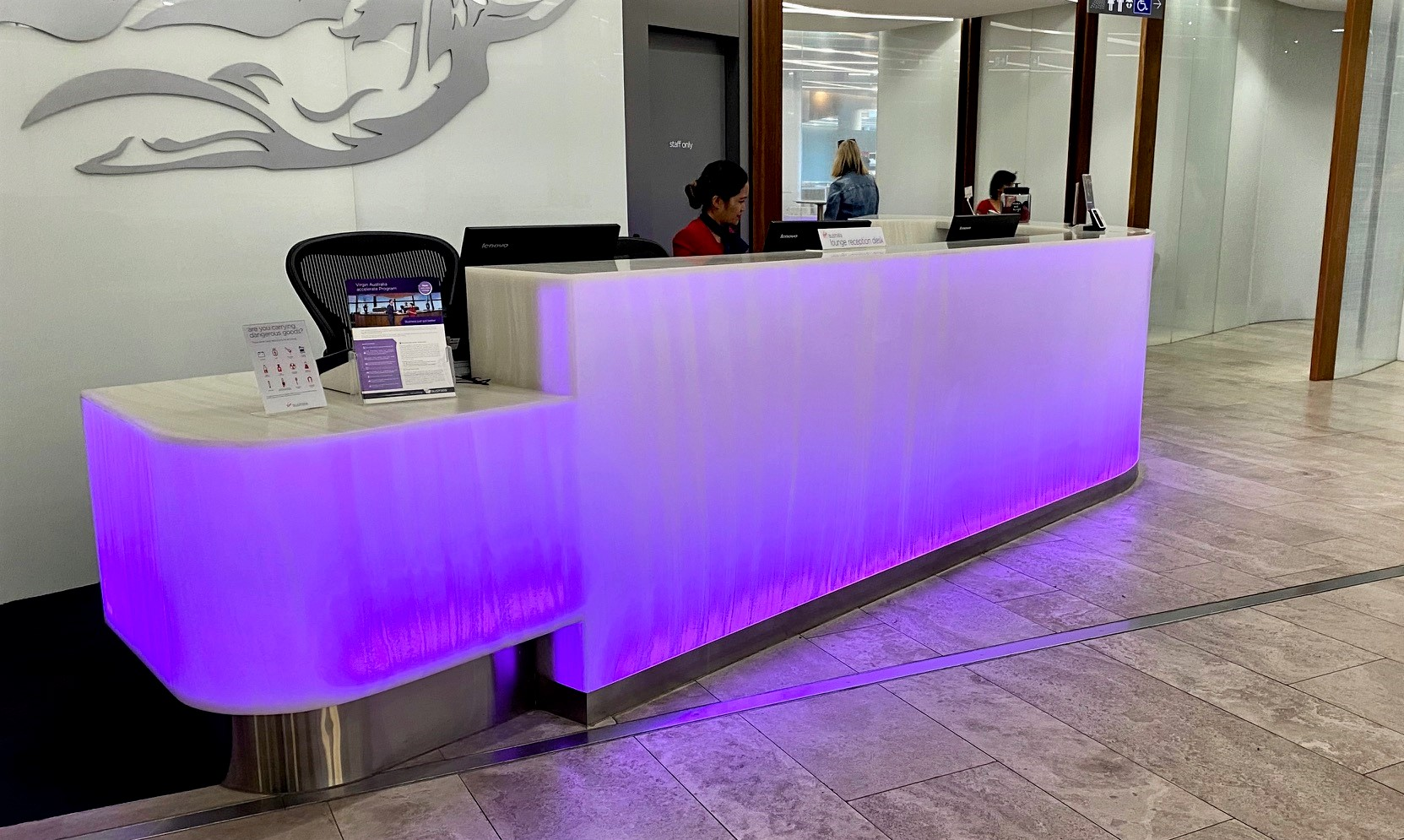 Reception, Virgin Australia Lounge - Perth Airport