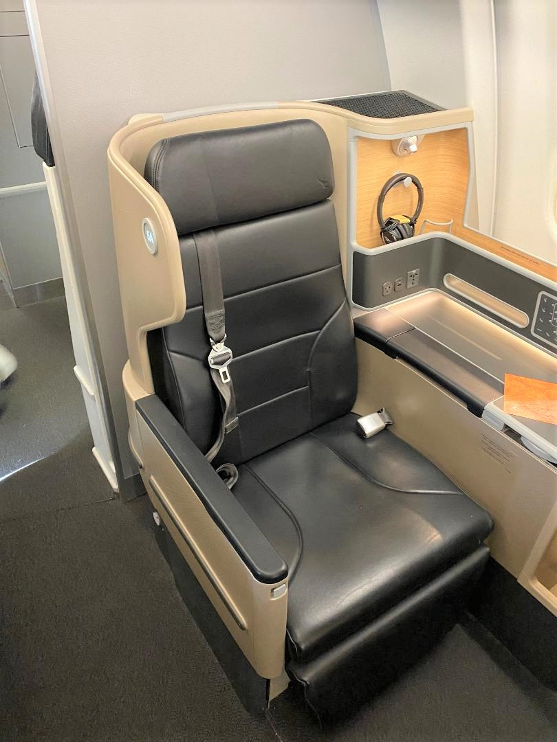 Seat 5A on Qantas A-330