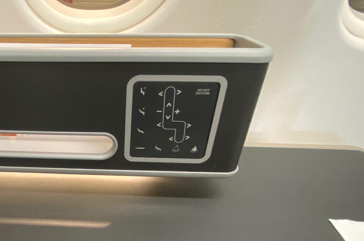 Seat Controls, Qantas A-330 Business Class Cabin