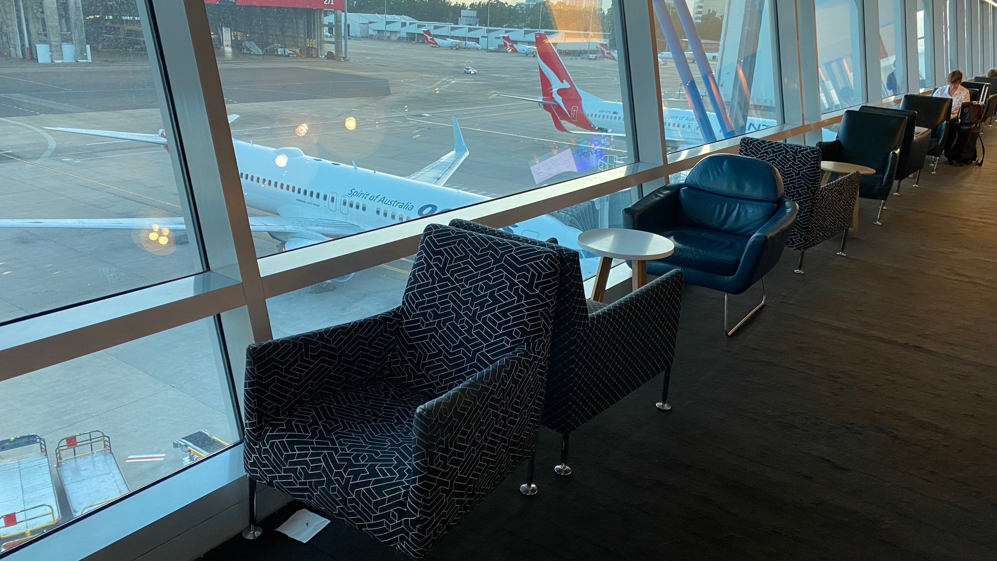 Seating, Qantas Domestic Business Lounge - Sydney Airport