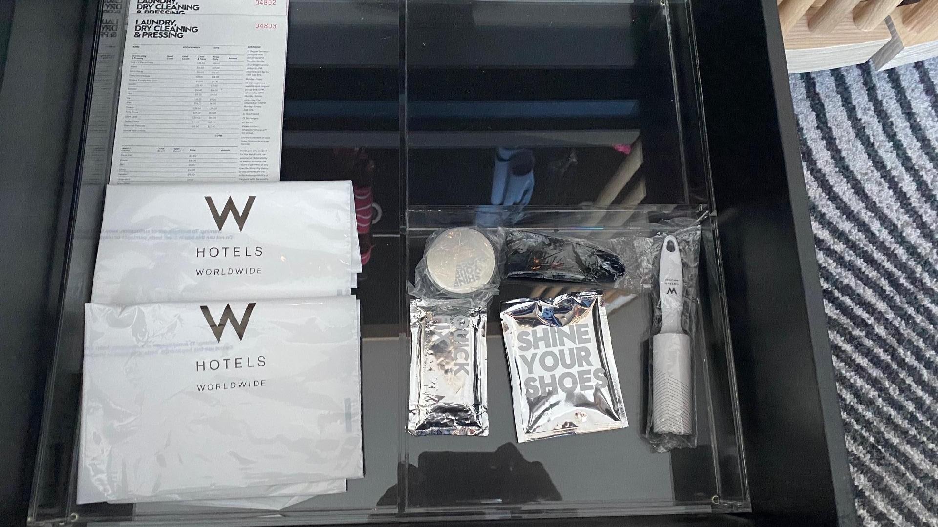 Shoe-shine kit & laundry bags, Fantastic Suite - W Brisbane
