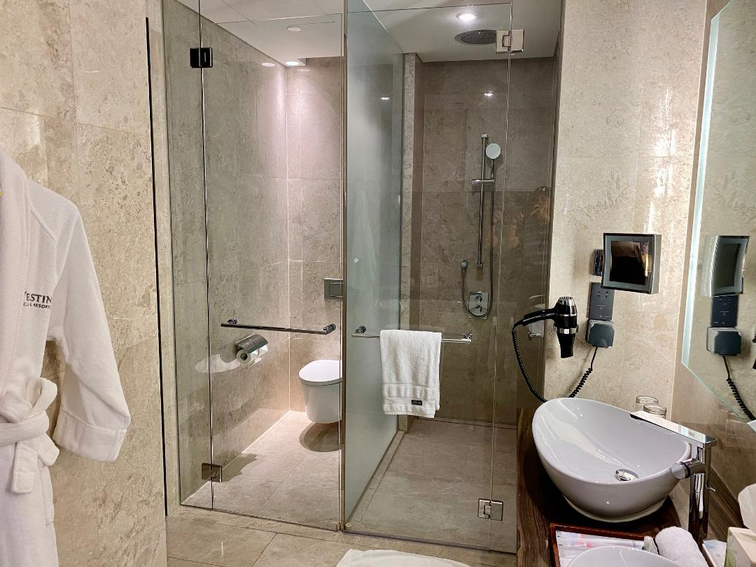 Executive Suite Shower & Toilet, The Westin Singapore