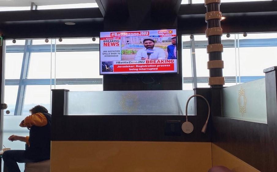 TV, Air Vistara Lounge Delhi Airport