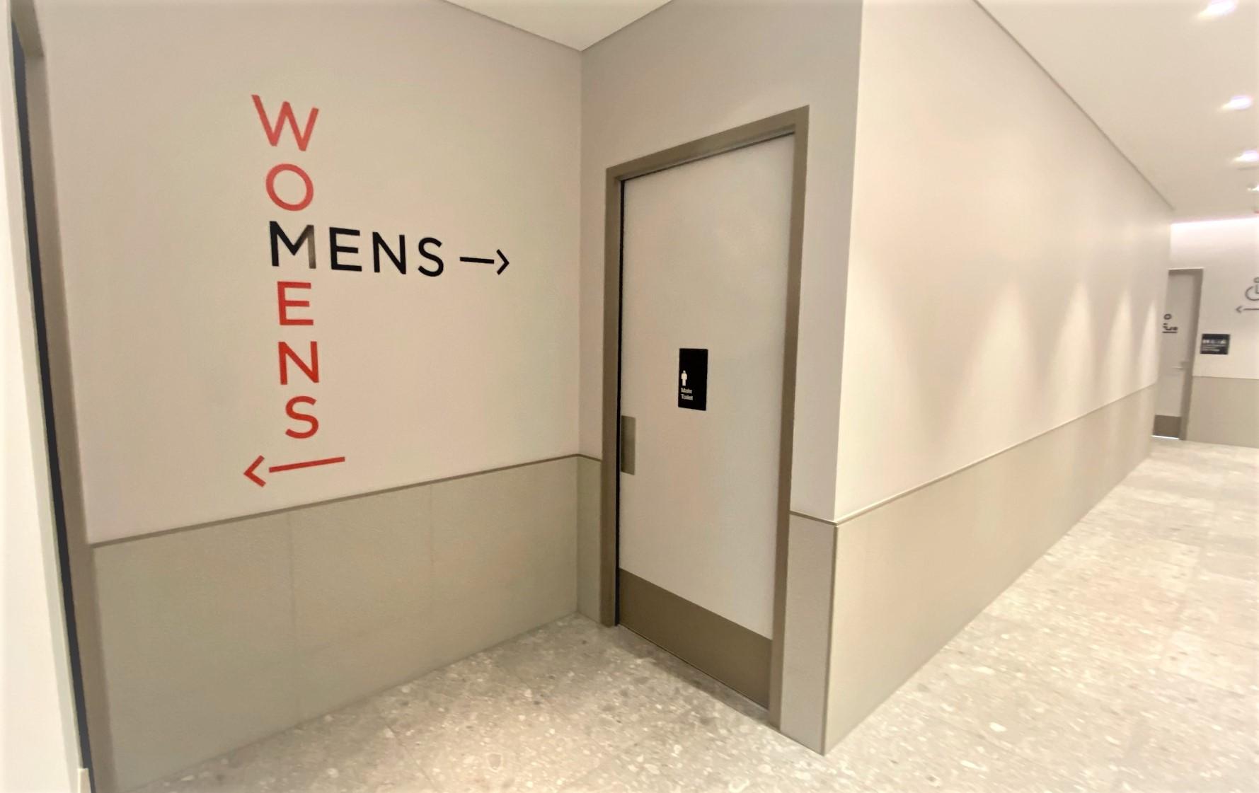 Toilets, Virgin Australia Lounge - Adelaide Airport