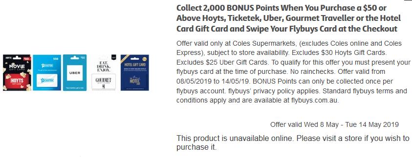 bonus flybuys points on uber, hoyts etc