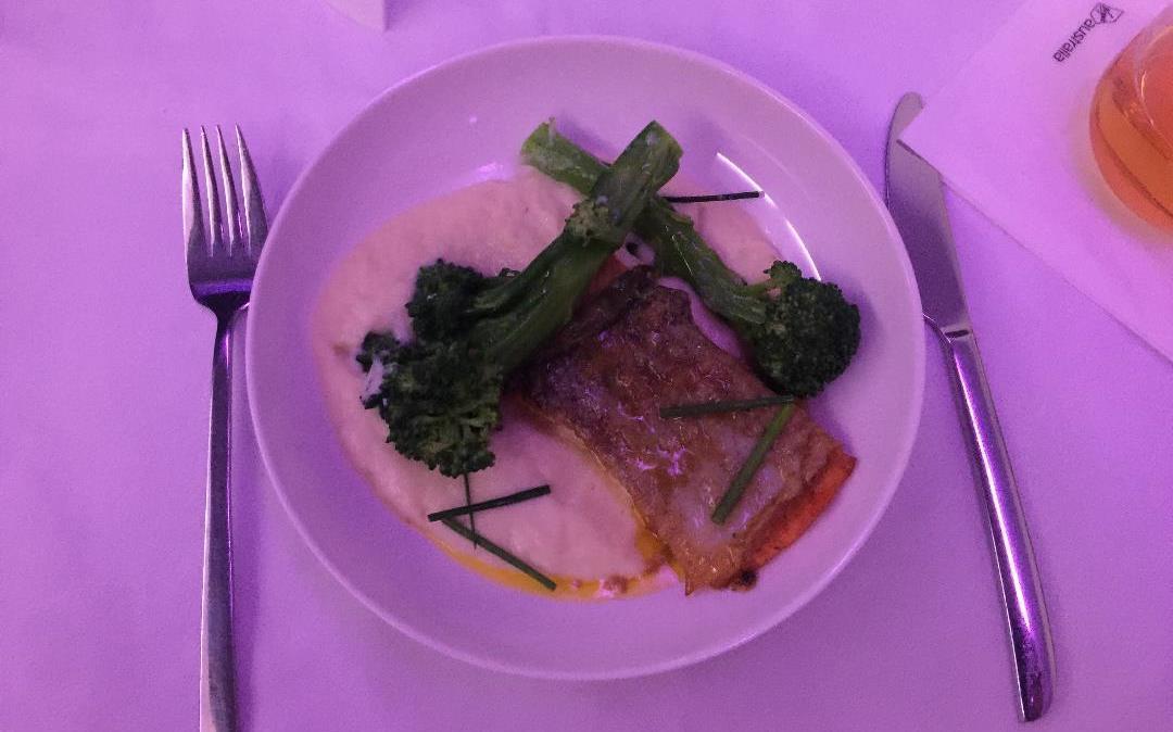 Virgin Australia business class meal