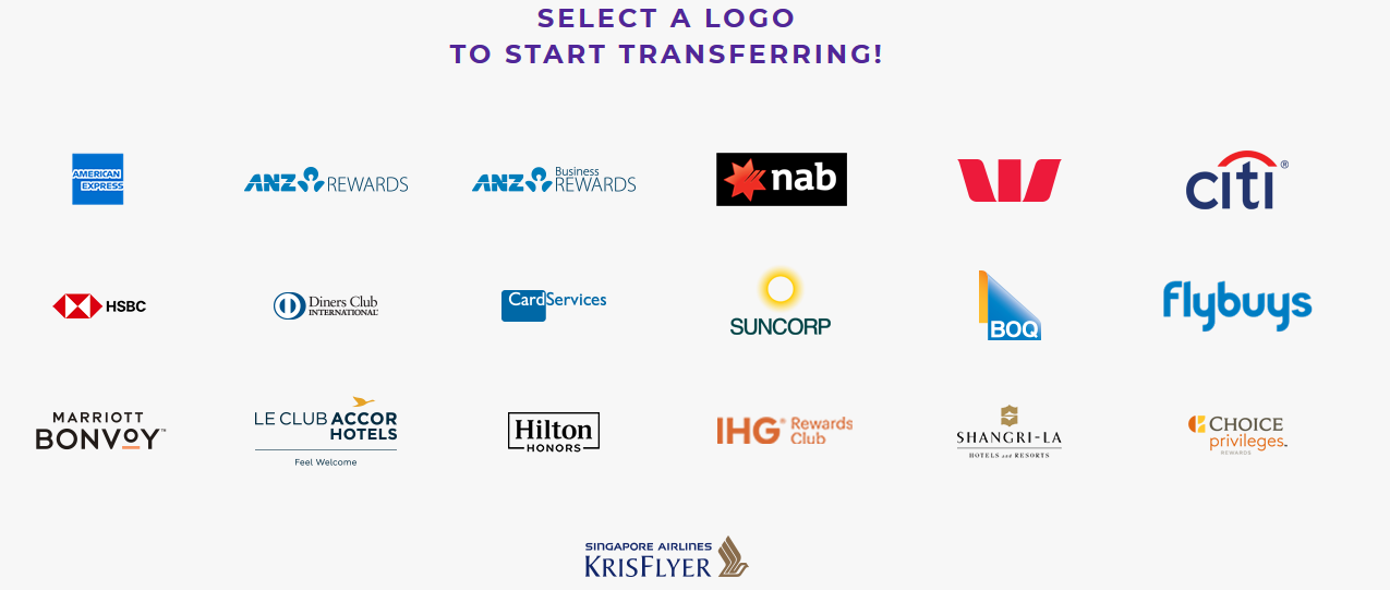 Velocity transfer partners Nov 2019 promo