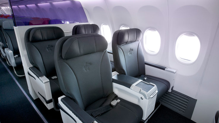 Virgin Australia B-737 Business Class seat