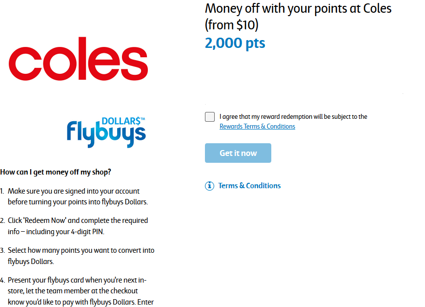 flybuys dollars off